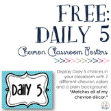 FREE Daily 5 Signs: Chevron