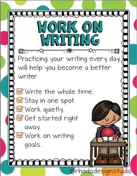 Reading Center and Writing Center Posters