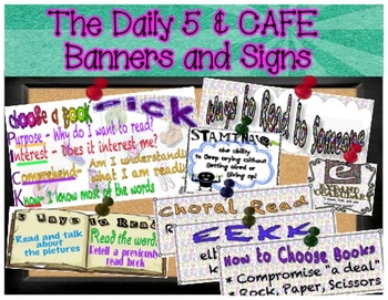 The Daily 5 and CAFE Banners, Anchor Charts, and Signs