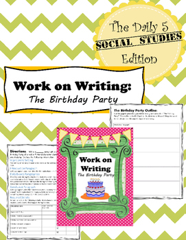 Daily 5 for Middle School Social Studies - Work on Writing Activity
