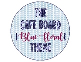 The Daily CAFE Board (Blue Floral Theme)
