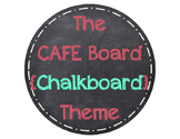 The Daily CAFE Board (Chalkboard Theme)