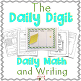 "1st Grade ""Daily Digit"" Math and Writing: Journal, Calendar, # of Day, More"