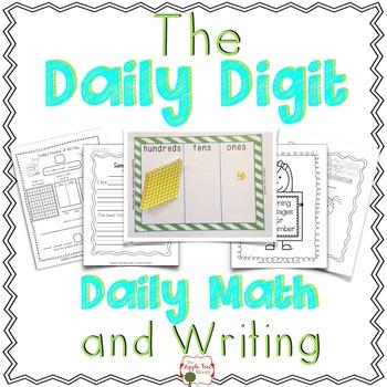 "1st Grade ""Daily Digit"" Math and Writing: Journal, Calenda"