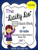 """The """"Daily Do"""" Quick Check 1st Grade Numbers & Operations"""