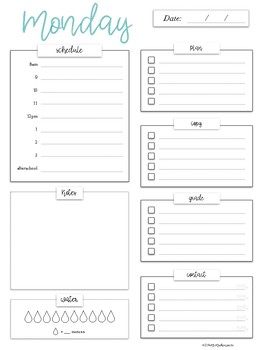 The Daily Edit - Printable & iPad Compatible Daily Organization Page
