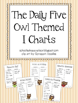 The Daily Five Owl Themed I Chart Posters