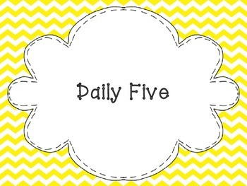 The Daily Five Posters