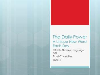 The Daily Power Vocabulary Builder--Pt. 2