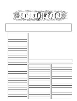 image regarding Daily Prophet Printable known as The Each day Prophet Template