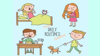 The Daily Routines Game PPT (ESL/EFL/ELL Speaking/Interactive Powerpoint)