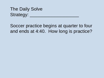 Problem of the Day - Grade 3