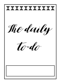 The Daily To-Do