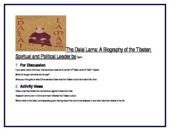 The Dalai Lama for Literature Circles