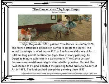 "Integrated Art Response: ""The Dance Lesson"" by Edgar Degas"