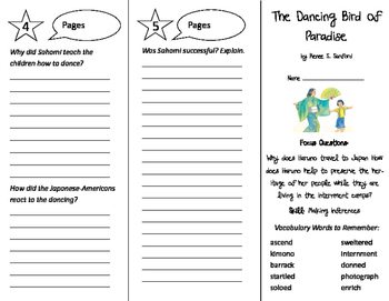 The Dancing Bird of Paradise Trifold - Imagine It 5th Grade Unit 1 Week 3