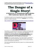 The Danger of a Single Story! A Reflection of Chimamanda Ngozi Adichie TED Talk