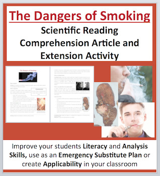 The Dangers of Smoking - Science Reading Article