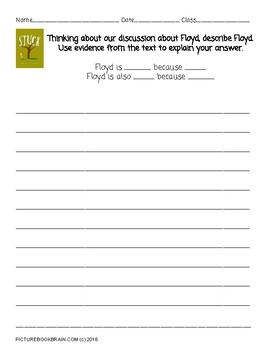 Stuck by Oliver Jeffers 4-5 Day Lesson Plan and Activities