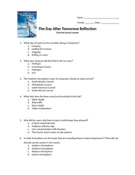 The Day After Tomorrow Worksheet Free Worksheets Library ...