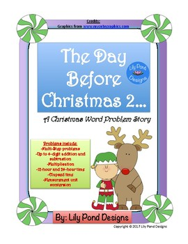 The Day Before Christmas 2... A Christmas Word Problem Story