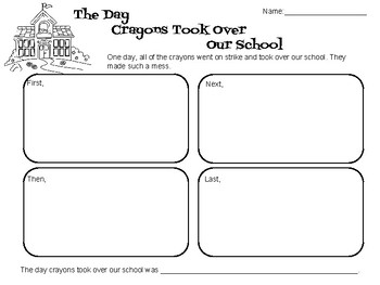 The Day Crayons Took Over Our School - Writing Prompt
