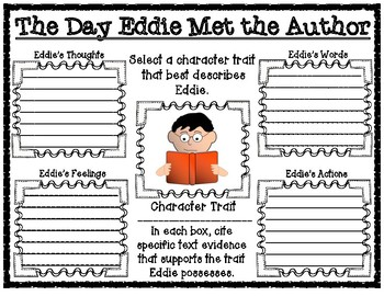 The Day Eddie Met the Author Comprehension Printables Pack