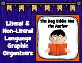 The Day Eddie Met the Author Figurative Language Graphic Organizers