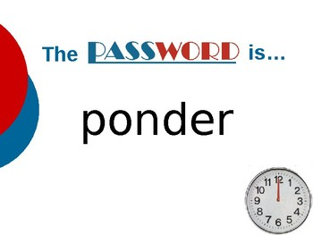 The Day Eddie Met the Author - Vocabulary Password