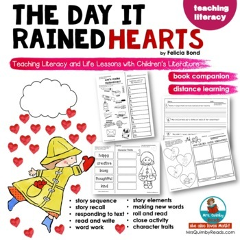 The Day It Rained Hearts | Book Companion | Writing Prompts