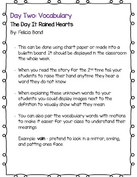 The Day It Rained Hearts Close Read, Writing Prompts, and Craft