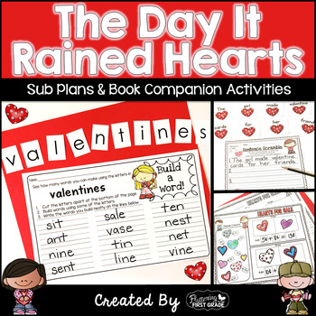 Sub Plans and Book Activities for Valentine's Day ~ Day It Rained Hearts