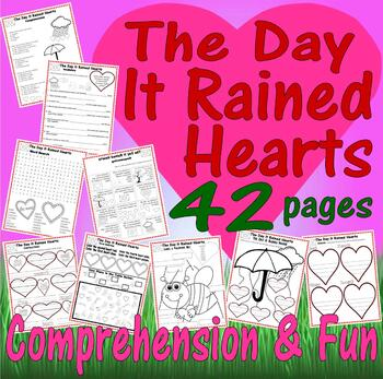 The Day It Rained Hearts * Valentine's Book Companion Reading Activity Unit 42pg