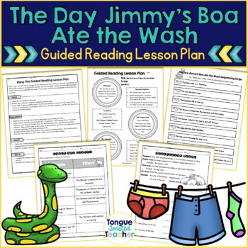 The Day Jimmy's Boa Ate the Wash by Trinka Hakes Noble, Guided Reading Level K
