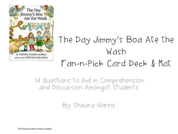 The Day Jimmy's Boa Ate the Wash Fan & Pick Cards (Trophies 2nd grade)