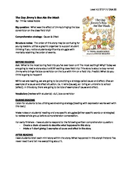 The Day Jimmy's Boa Ate the Wash Guided Reading Lesson Plan - Level K