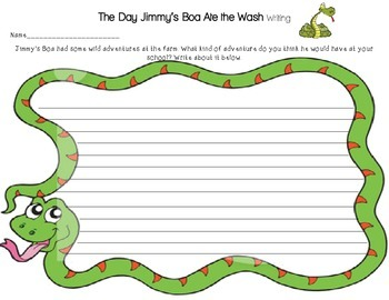 The Day Jimmy's Boa Ate the Wash_Writing