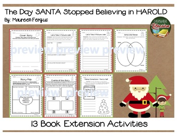 The Day Santa Stopped Believing in Harold by Fergus 13 Extension Activities