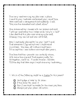 The Day You Came-Poetry Test Prep