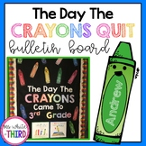 The Day The Crayons Quit Bulletin Board