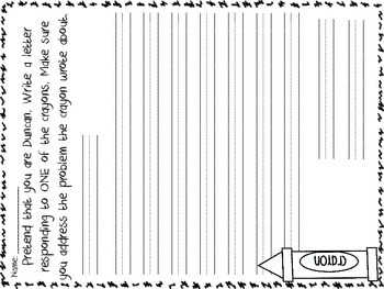 The Day The Crayons Quit Printables