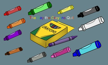The Day The Crayons Quit Smartboard Retell and Letter Identification Activity