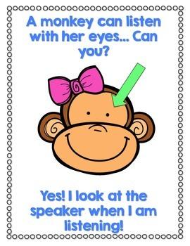 Good Choices & Listening Skills: Monkey Business