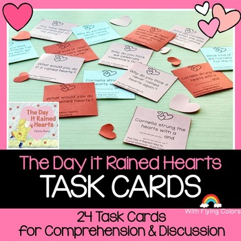 The Day it Rained Hearts Activity (TASK CARDS)