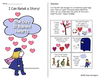 The Day It Rained Hearts {Paper Bag Retelling} for Valentine's Day!