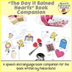 """The Day it Rained Hearts"" Speech Language Companion"