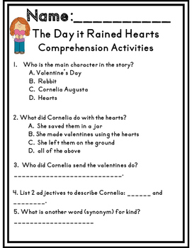The Day it Rained Hearts Unit