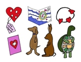 The Day it Rained Hearts by Felicia Bond Clip Art Set