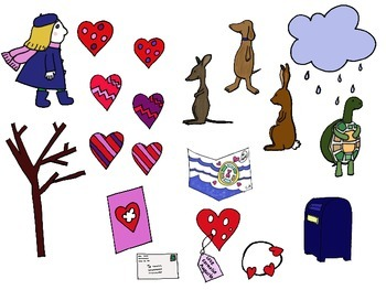 The Day it Rained Hearts by Felicia Bond Speech Therapy Companion Pack