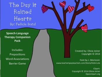 The Day it Rained Hearts by Felicia Bond Speech Therapy Co